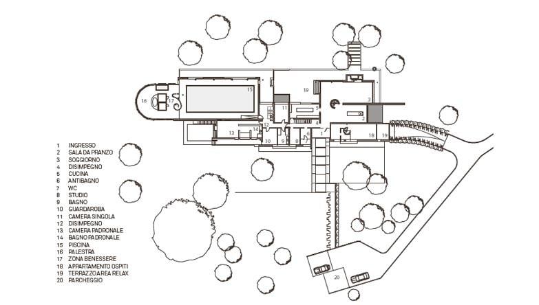Treviso una villa quadro sul paesaggio interni magazine for Schemi di scala a chiocciola