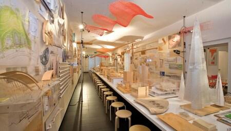 La stanza 1 dell'archivio a Villa Nave, sede della Fondazione Renzo Piano.