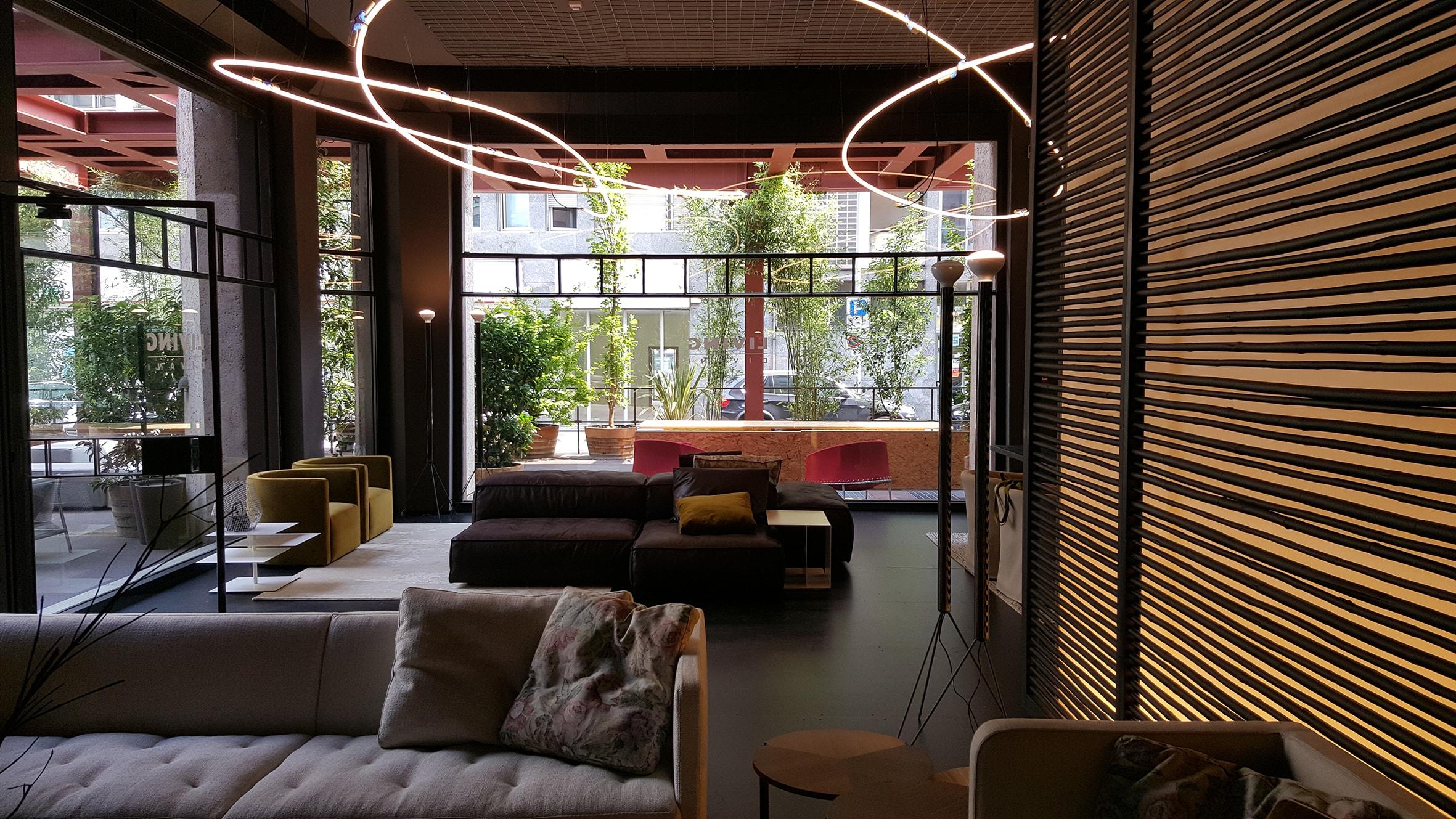 temporary store living divani alla torre velasca interni