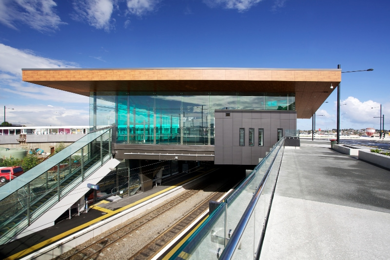 Laminam per la facciata ventilata della Panmure Station ad Auckland in Nuova Zelanda