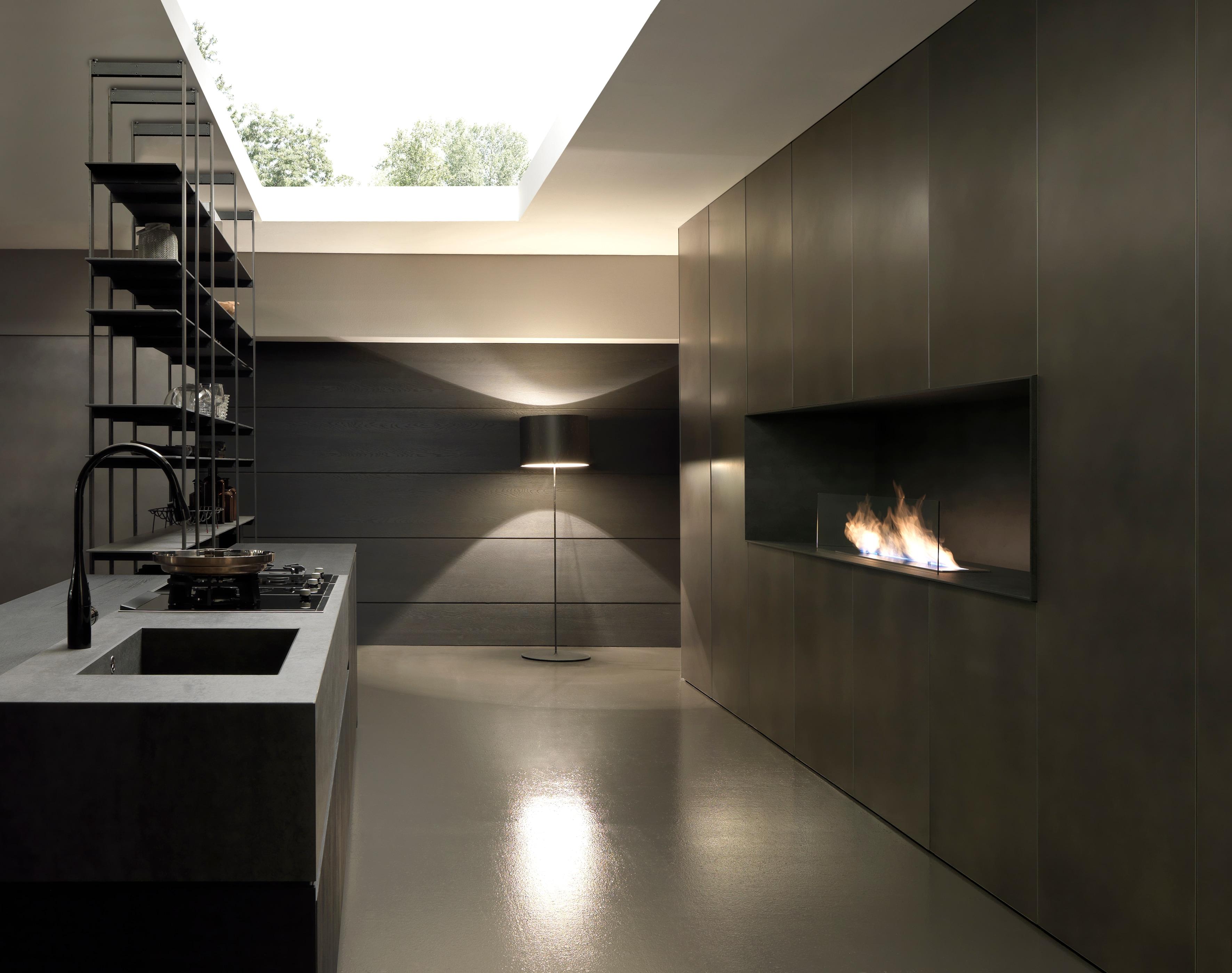 Piastrelle effetto pietra - Parete lavagna cucina ...