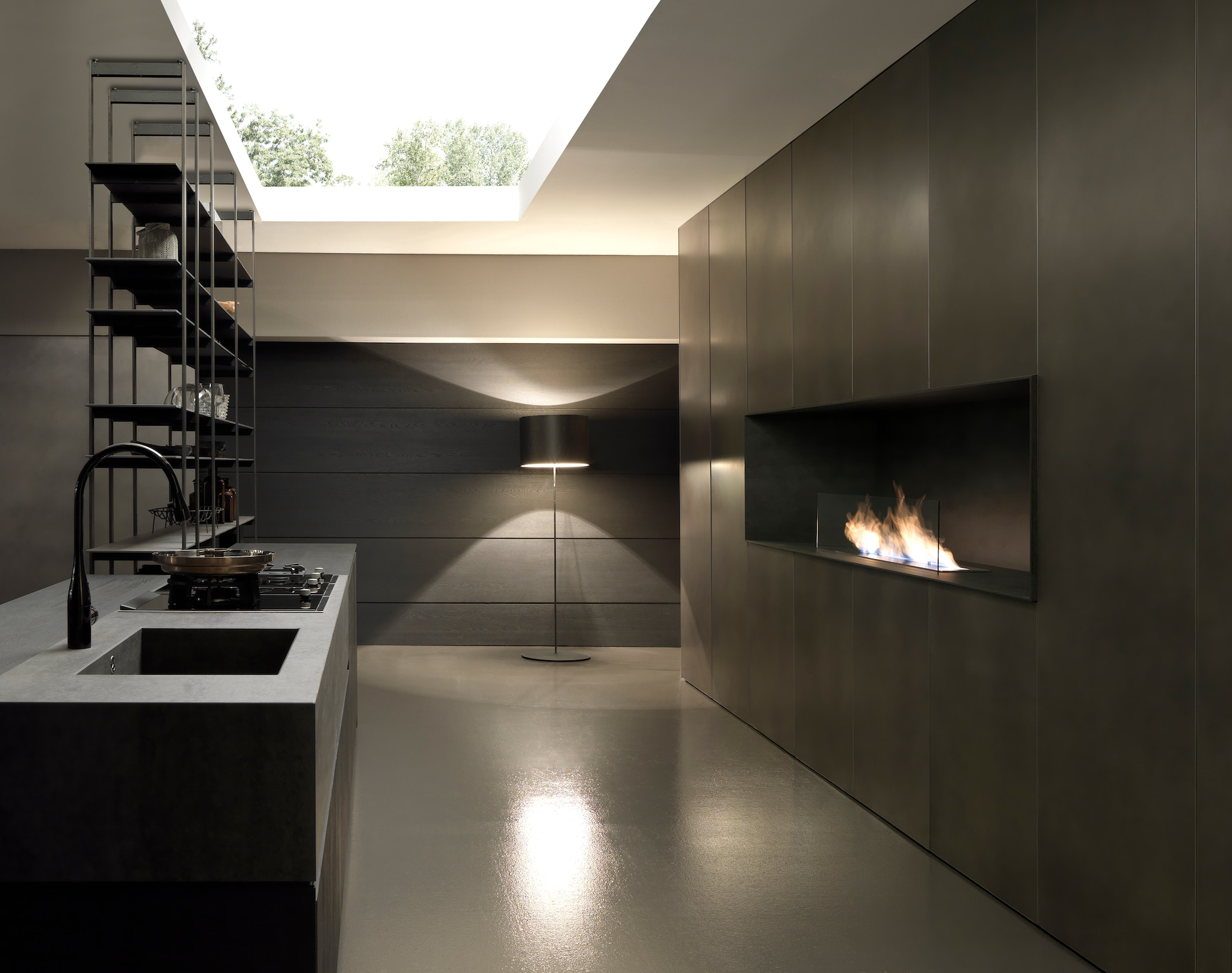 Excellent cucina moderna antracite sistema cucina completa - Colori muro cucina ...