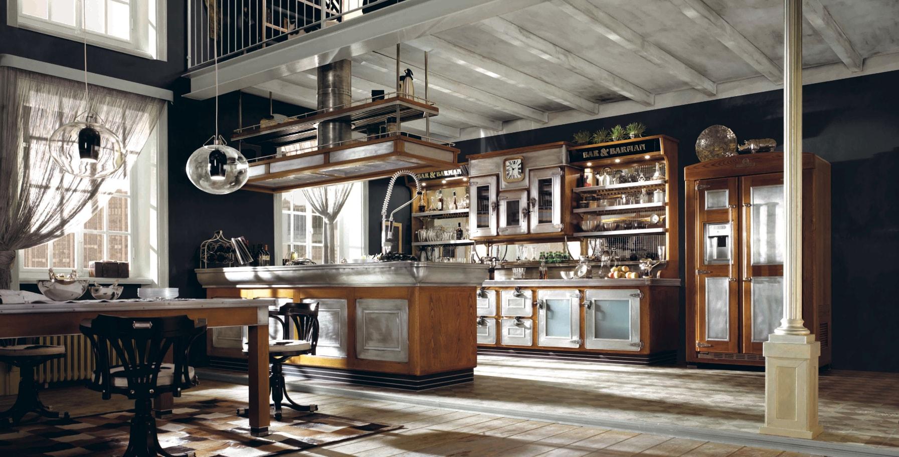 Cucine d 39 autore da 40 anni interni magazine - Cucine industrial vintage ...