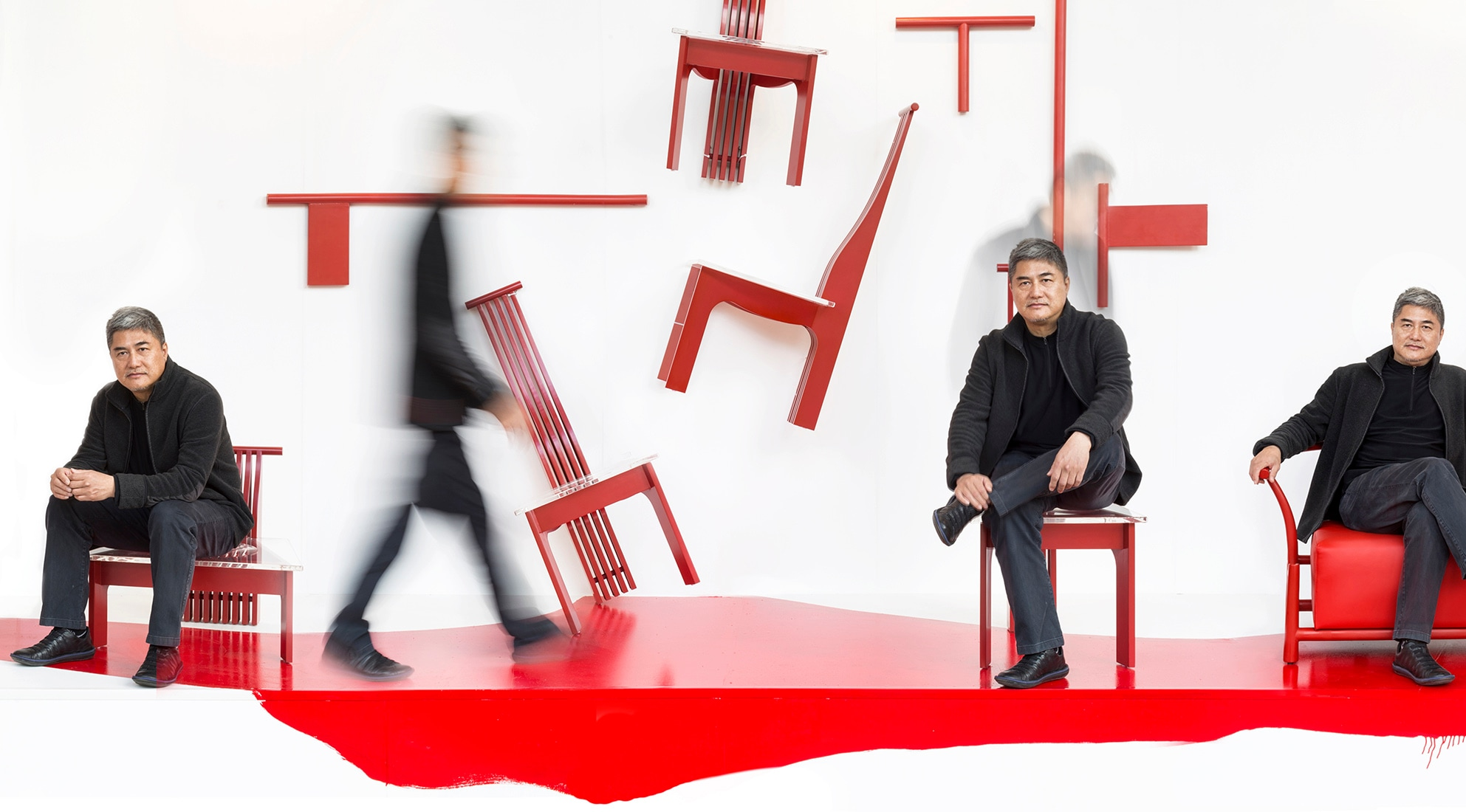 Chen xiangjing dalla cina al mondo interni magazine for Rosso lacca cinese
