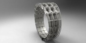 Gioiello in titanio, prodotto con stampante 3d