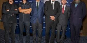 Da sinistra: Bjarke Ingels, BIG; Winy Maas, MVRDV; Stefano Agostini Presidente e AD Gruppo Sanpellegrino; Kjetil Trædal Thorsen, Snohetta; Marco Settembri, CEO Nestlé Waters; Michele De Lucchi