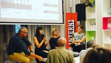 Da sinistra, Giulio Iacchetti, Laura Traldi, Gilda Bojardi, Patrizia Scarzella.