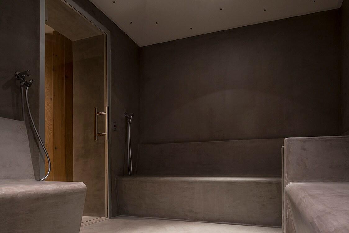 Design moderno e stile tirolese interni magazine - Vernici per bagno ...