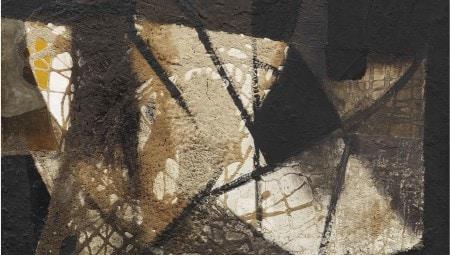 Alberto Burri, Senza titolo, 1951, olio, pietra pomice, vinavil su tela, cm 42,5x47