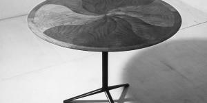 Ico Parisi, tavolo rotondo con struttura in ferro laccato nero e piano in noce nazionale, 1954. Esecuzione: Vittorio Bega, Bologna. Courtesy Archivio del Design di Ico Parisi, Como
