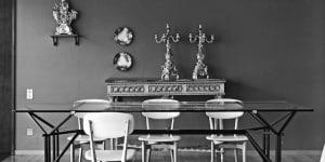 Ico Parisi, tavolo con struttura in ferro laccato nero e piano in cristallo, 1955. Esecuzione: Brugnoli Mobili, Cantù. Courtesy Archivio del Design di Ico Parisi, Como