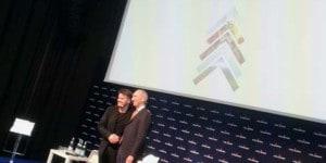 Biarke Ingels, a sinistra, con Stefano Agostini, presidente e Ad del Gruppo Sanpellegrino.