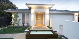 White contemporary house exterior