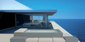 19532934 - modern luxury design villa with seascape view