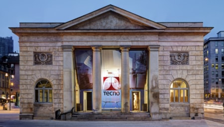 Lo showroom Tecno di Milano.