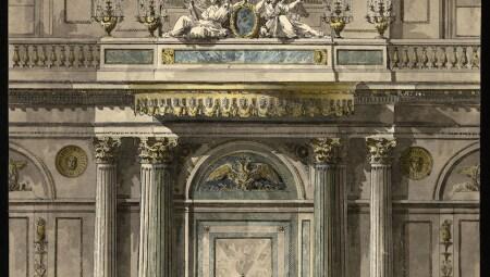 Giacomo Quarenghi- Progetto per la  Sala di San Giorgio (Sala del Trono) nel Palazzo d'Inverno a San Pietroburgo. Accademia Carrara- Bergamo