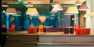 Area Lounge dell'Hotel nhow Milano