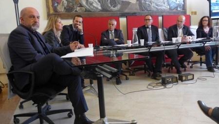 Da sinistra, Carlo Branzaglia, Elena Vai, Enrico Maria Pastorello, Giancarlo Tonelli, Emilio Mussini, Matteo Lepore.