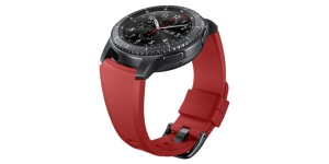 Samsung Gear S3 frontier_Active silicon band_Red_Side