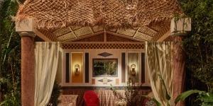 "American Bathroom styled by Carolina Irving; mostra ""Corian® Cabana Club"" (Milano, 3-9 aprile 2017); foto Filippo Pincolini."