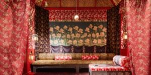 "Chinese Meditation Room styled by Idarica Gazzoni; mostra ""Corian® Cabana Club"" (Milano, 3-9 aprile 2017); foto Filippo Pincolini."