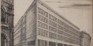 Ignazio Gardella, La Rinascente Milano 1948-49, disegno su lucid