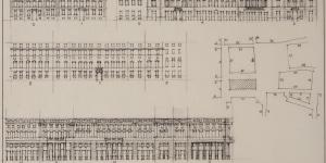 Ignazio Gardella, Nuova sede La Rinascente. Studi urbani, 1948-49, china su lucido