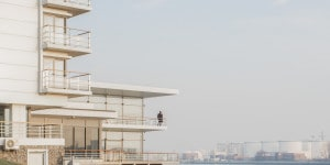 Marco Menghi, Rotterdam Maas, 2016, cm 40x46,6