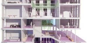 22_Modell des Projekts Zollhaus_ZÅrich_2015_Enzmann Fischer Partner_AG_c_Enzmann Fischer Partner AG