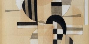 Vassilij Kandinskij (Mosca, 1866 - Neuilly sur Seine, 1944). Wechselstreifen, 1933. Acquerello su carta, 34 x 24 cm. Collezione Intesa Sanpaolo