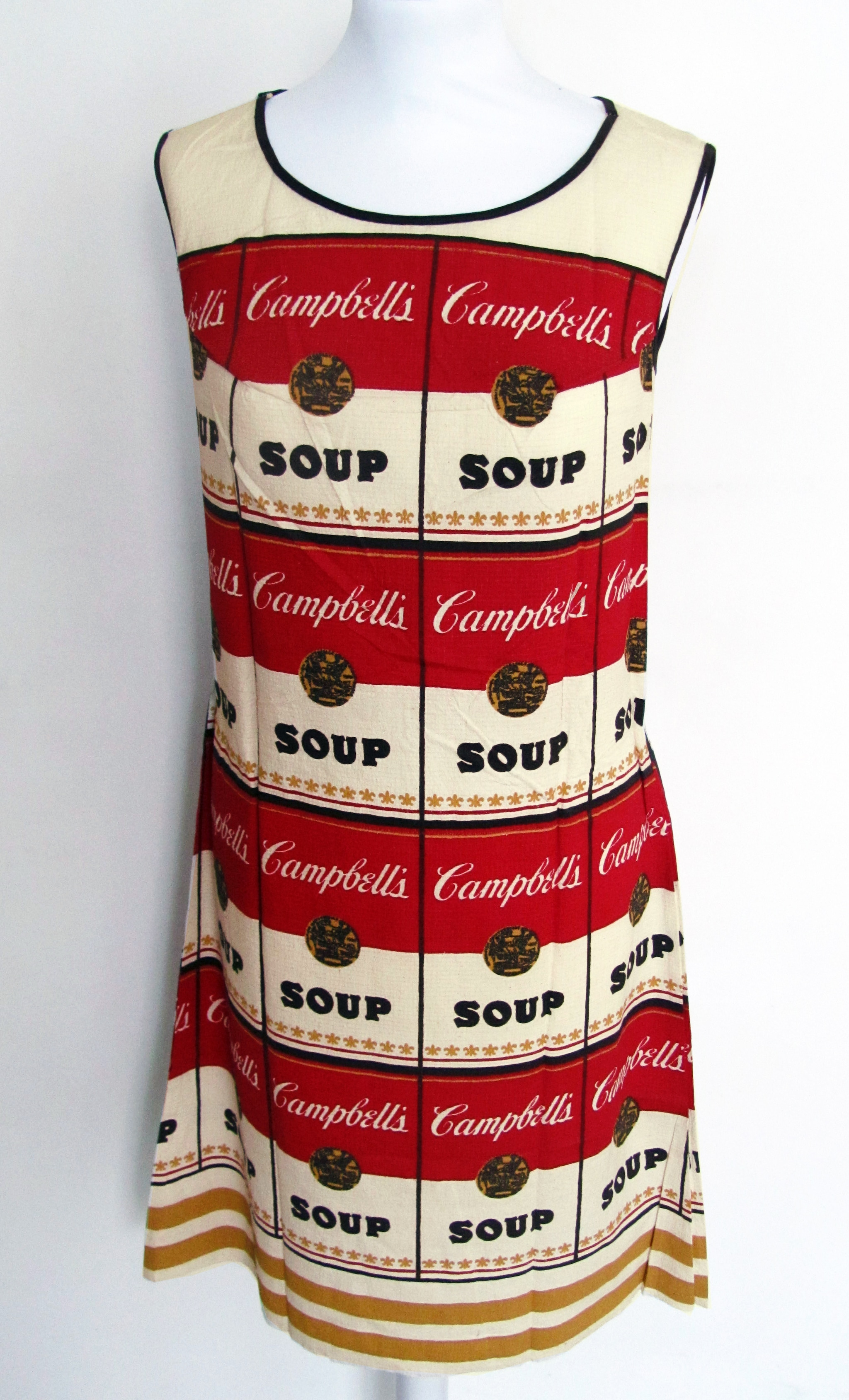 Andy warhol campbell s soup dress 1968 stampa su cotone for Ricerca su andy warhol