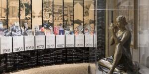 Allestimento Mostra 'LR100 - Rinascente - Stories of Innovation' a Palazzo Reale di Milano. Foto di Lorenzo Palmieri