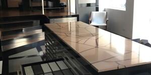 Il nuovo showroom stone Italiana in via Visconti di Modrone a Milano