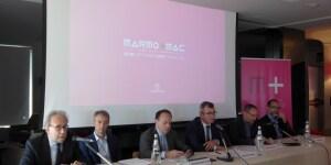 Da sinistra, Luciano Galimberti, Raffaello Galiotto, Giovanni Mantovani, Maurizio Danese, Aurelio Magistà, Luca Molinari.