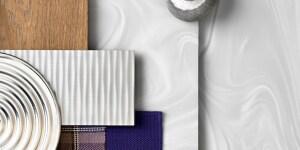 Corian® Gray Onyx. Con opulenza dignitosa, presenta un tocco avanguardisti, grazie a irradiazioni di colore argento su un fondo bianco traslucido. L'estetica ha un effetto 'drammatico' e di assoluto stile