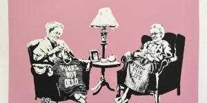 Banksy. Grannies, 2006. Photo: Artrust SA