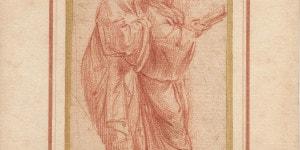 Raffaello Sanzio. Due figure maschili dalla stanza dell'Eliodoro,in Vaticano(Attr.storica: Raffaello Sanzio, Urbino, 1483- Roma, 1520). Courtesy AION