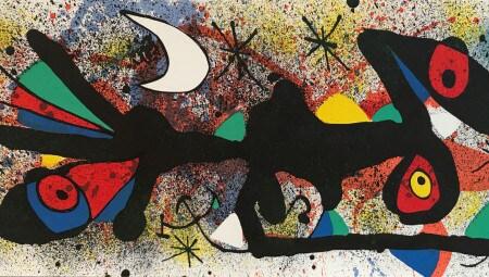Joan Miro_Senza Titolo 2_1974_litografia a colori_cm 27,8x56,5
