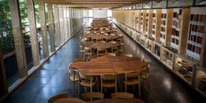 Nel nuovo Pangea Lab, il tavolo Pangea, simbolo di Expo 2015 a firma di Michele De Lucchi e ideato da Davide Rampello
