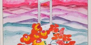 Ettore Sottsass Jr., House Enviroment. Disegno per la mostra Italy: The New Domestic Landscape, Museum of Modern Art, New York, s.d. (1972), pastelli e pennello su cartoncino, mm 320 x 320, CSAC, Università di Parma, Fondo Ettore Sottsass Jr
