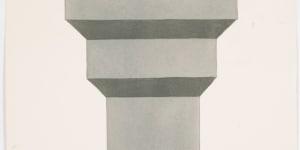 Ettore Sottsass Jr., Studio n. 12 per Ceramiche tantriche, s.d. (1968), acquarello e matita su carta, mm 505 x 375, CSAC, Università di Parma, Fondo Ettore Sottsass Jr.