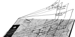 Ugo La Pietra, Mappe, decodificazione urbana, 1975. Courtesy Archivio Ugo La Pietra