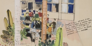 Ettore Sottsass Junior, Scuola elementare a otto aule, Siliqua, 1951-52