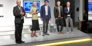 Paolo Ortelli con Paola Marella, Settimio Benedusi, Fabio Novembre, Moreno Cedroni.