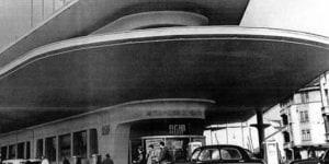 Foto storica dell'ex stazione Agip Supercortemaggiore.
