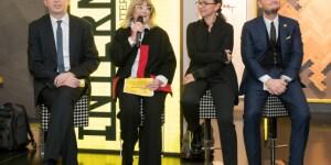 Da sinistra, Filippo Del Corno, Assessore alla Cultura Comune di Milano, Gilda Bojardi, Direttore Interni, Simona Collarini, Dirigente del Settore pianificazione urbanistica generale del Comune di Milano, Lorenzo Pascucci, General Manager MCD.