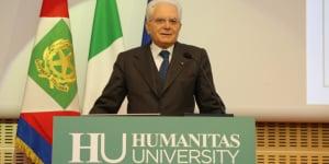 Il Presidente della Repubblica Italiana Sergio Mattarella.