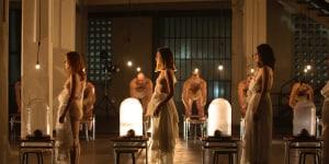 La performance 'Mio cuore io sto soffrendo, cosa posso fare per te?' ideata da Antonio Marras alle Ex Cantine Folonari di Brescia