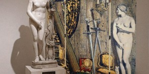"""Paravento """"Angolo antico con Eva"""" di Fornasetti, Museo Nazionale Romano-Palazzo Altemps"""