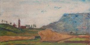 Arturo Tosi La chiesetta di S.Lorenzo 1935 olio su tela cm50x60 © Frauke Stenz